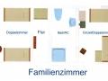 Grundriss Familien-Kombination mit Einzelbetten